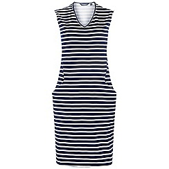 Dorothy Perkins - Tall navy striped shift dress