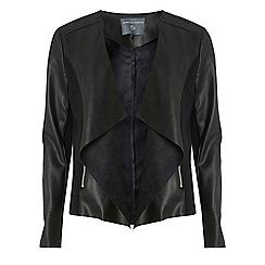Dorothy Perkins - Tall black waterfall polyurethane jacket