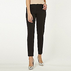 Dorothy Perkins - Tall black split hem ankle grazer trousers