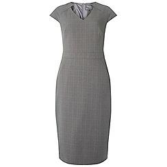 Dorothy Perkins - Tall grey checked notch v-neck pencil dress