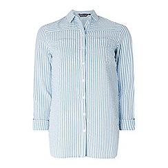 Dorothy Perkins - Tall blue seersucker striped shirt