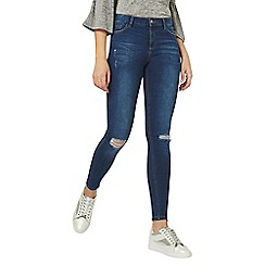 Dorothy Perkins - Tall blue ripped darcy ankle jeans