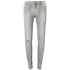 Dorothy Perkins - Tall grey rip darcy ankle grazer jeans