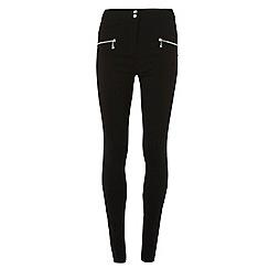 Dorothy Perkins - Tall black zip detail bengaline trousers