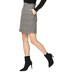 Dorothy Perkins - **tall grey and black checked frill mini skirt