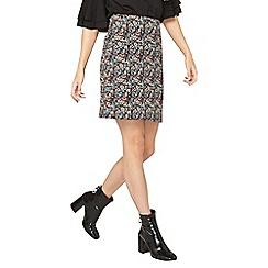 Dorothy Perkins - Tall multi coloured floral print jacquard mini skirt