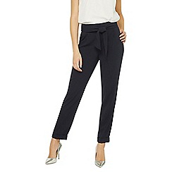 Dorothy Perkins - Tall navy tie waist tapered trousers
