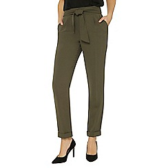 Dorothy Perkins - Tall khaki tie waist tapered leg trousers