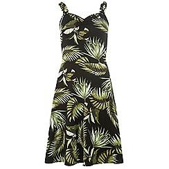 Dorothy Perkins - Tall black tropical tie sweetheart dress