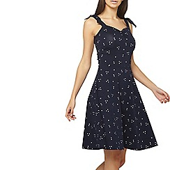 Dorothy Perkins - Tall navy heart tie sweetheart dress