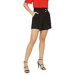 Dorothy Perkins - Tall black o-ring shorts
