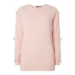 Dorothy Perkins - Tall pink brushed bow sleeves jumper