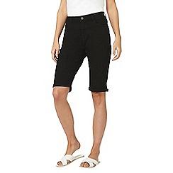Dorothy Perkins - Tall black denim knee shorts