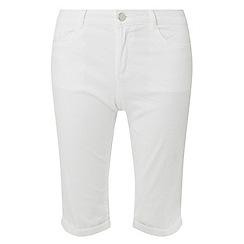 Dorothy Perkins - White knee length shorts