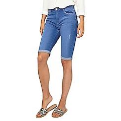 Dorothy Perkins - Tall mid blue knee denim shorts