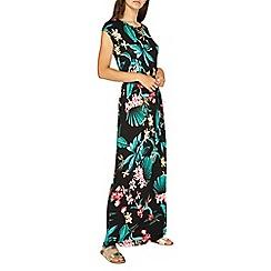 Dorothy Perkins - Tall multi coloured tropical print tie waist maxi dress