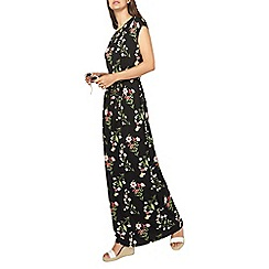 Dorothy Perkins - Tall multi coloured printed tie waist maxi dress