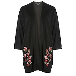 Dorothy Perkins - Tall black embroidered front cardigan