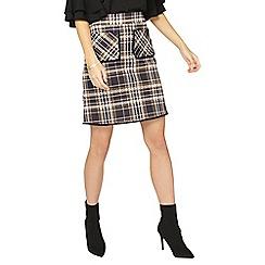 Dorothy Perkins - Tall multi coloured check pocket mini skirt