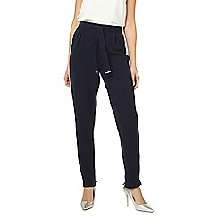 Dorothy Perkins - Tall navy belted trousers