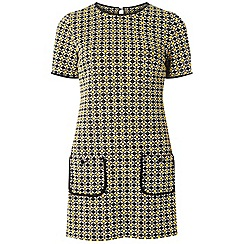 Dorothy Perkins - Tall yellow geometric print jacquard tunic dress