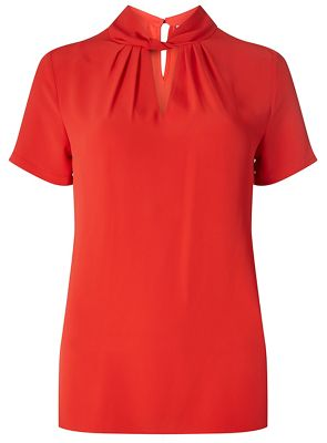 Dorothy Perkins   Tall Red Twist Front Blouse by Dorothy Perkins