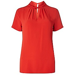 Dorothy Perkins - Tall red twist front blouse