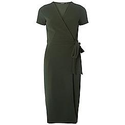 Dorothy Perkins - Tall khaki crepe wrap dress