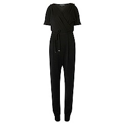 Dorothy Perkins - Tall black wrap jumpsuit