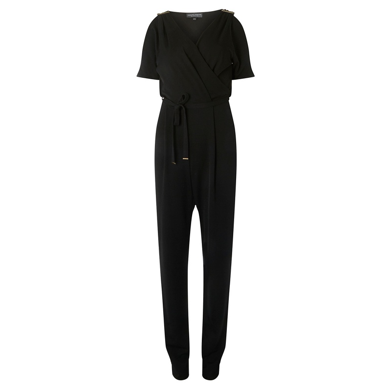 9f3bdbd1a7 Up to 48% off Dorothy Perkins - Tall Black Wrap Jumpsuit