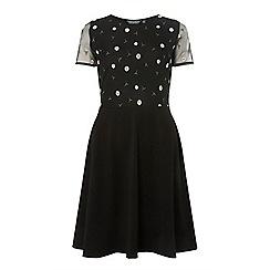 Dorothy Perkins - Tall black daisy mesh dress