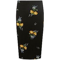 Dorothy Perkins - Black floral tube skirt
