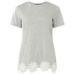 Dorothy Perkins - Tall grey trim t-shirt