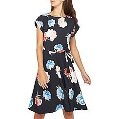 Dorothy Perkins - Tall navy floral print fit and flare dress