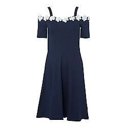 Dorothy Perkins - Tall navy daisy lace skater dress