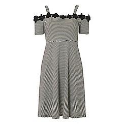 Dorothy Perkins - Tall black striped trim skater dress