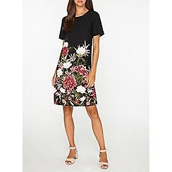 Dorothy Perkins - Tall black floral border shift dress