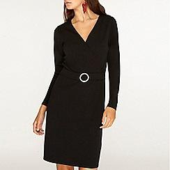 Dorothy Perkins - Tall black embellished v-neck pencil dress