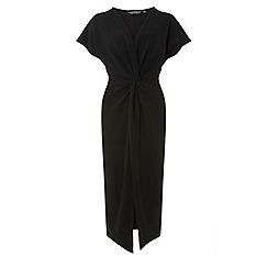 Dorothy Perkins - Tall black knot front midi bodycon dress
