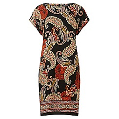 Dorothy Perkins - Tall terracotta paisley print shift dress