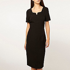 Dorothy Perkins - Tall black notch neck pencil dress