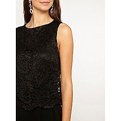 Dorothy Perkins - Tall black lace top jumpsuit