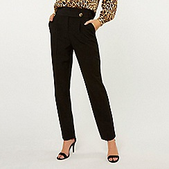 Dorothy Perkins - Tall Black Button Detail Trousers