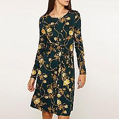 Dorothy Perkins - Tall green chain print skater dress