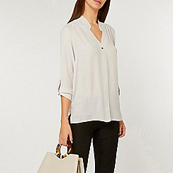 Dorothy Perkins - Tall silver grey roll sleeve shirt