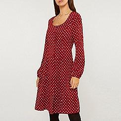 Dorothy Perkins - Tall Red Spot Print Skater Dress