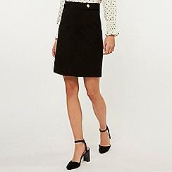 Dorothy Perkins - Tall Black Popper Mini Skirt
