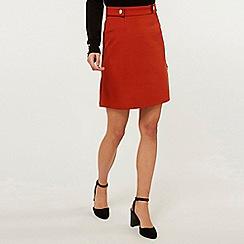 Dorothy Perkins - Tall Rust Popper Mini Skirt