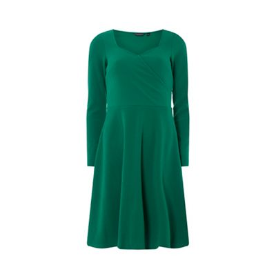 Dorothy Perkins   Wrap Fit And Flare Dress by Dorothy Perkins