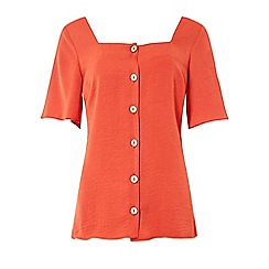 Dorothy Perkins - Tall rust button top
